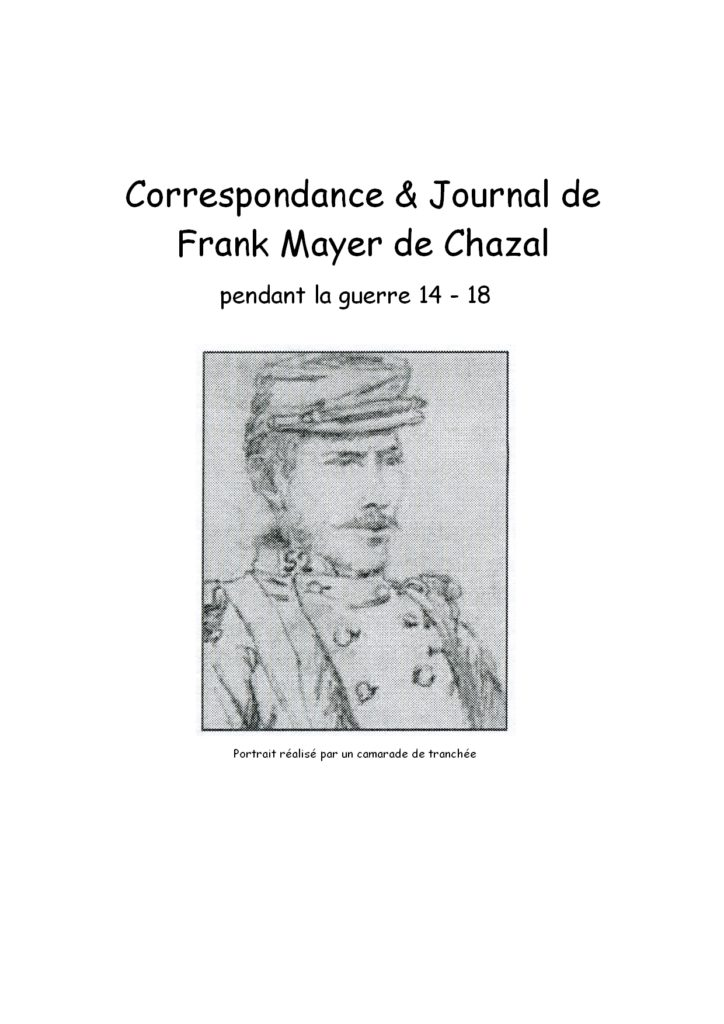 Journal Frank Mayer de Chazal
